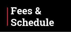 Fees & Schedule