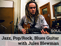 Jazz, Pop/Rock, Blues Guitar lessons with Jules Blewman